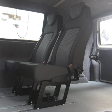 removable passenger seats for camper van