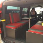Ford Transit Custom with Table in Lounge Area