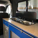 Ford Transit Kitchen Worktop in White Sparkle Supervan